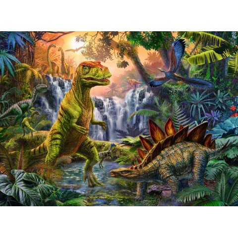 Ravensburger PUZZLE OAZA DINOZAURILOR, 100 PIESE