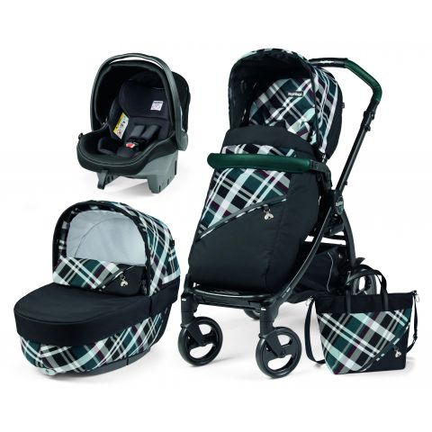 Peg Perego Carucior 3 in 1 Book Plus Modular Tartan