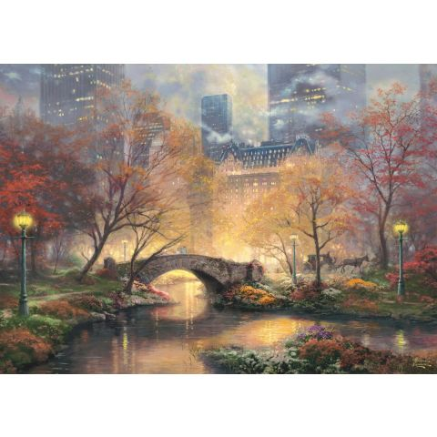 Puzzle 1000 piese Toamna in Central Park, Fosforescent