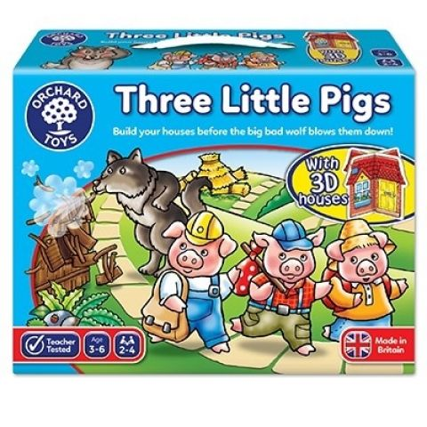 Orchard Toys Joc de societate Cei trei purcelusi THREE LITTLE PIGS