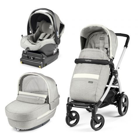 Peg Perego Carucior 3 In 1 Book Plus 51 S Titania White i-Size Luxe Pure