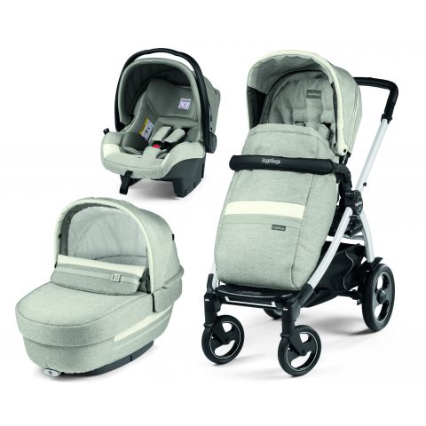 Peg Perego Carucior 3 In 1 Book Plus 51 S Titania White Luxe Pure