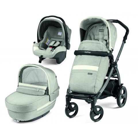 Peg Perego Carucior 3 in 1 Book Plus 51 Titania Luxe Pure