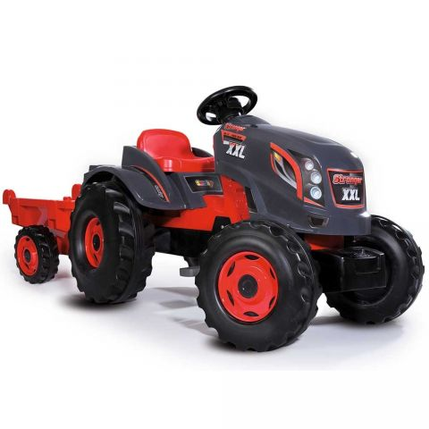 Smoby Tractor cu pedale si remorca Stronger XXL