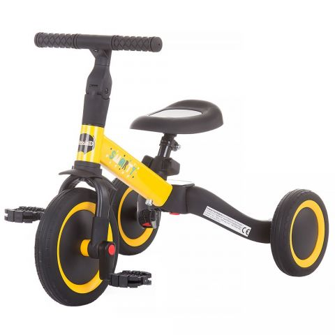 Chipolino Tricicleta si bicicleta Smarty 2 in 1 yellow