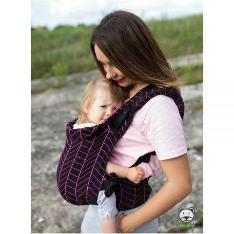 Luna Dream - Marsupiu ajustabil Grow Up Wrap Big Herringbone, Dark Pink