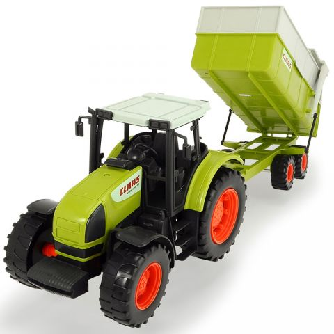 Dickie Toys Tractor Dickie Toys Claas Ares cu remorca