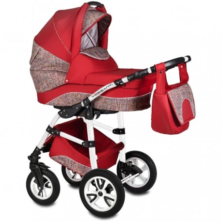 Vessanti Carucior Flamingo Easy Drive 3 in 1- Red