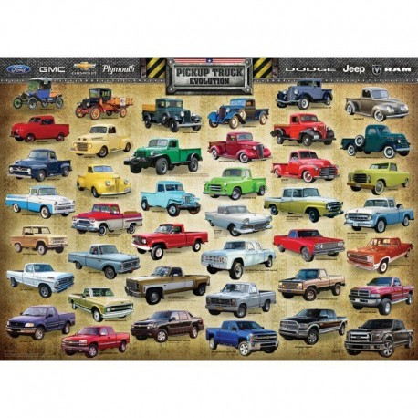 Eourographics Puzzle 1000 piese Pickup Truck Evolution