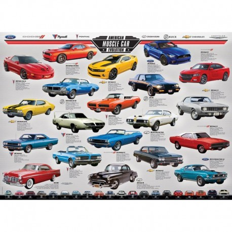 Eurographics Puzzle 1000 piese American Muscle Car Evolution