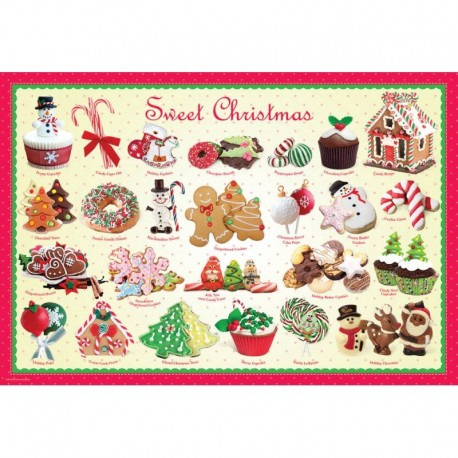 Puzzle 100 piese Sweet Christmas