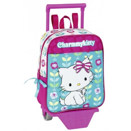 "Sanrio Mini-ghiozdan trolley gradinita colectia Charmmy Kitty ""Flowers"" 2"