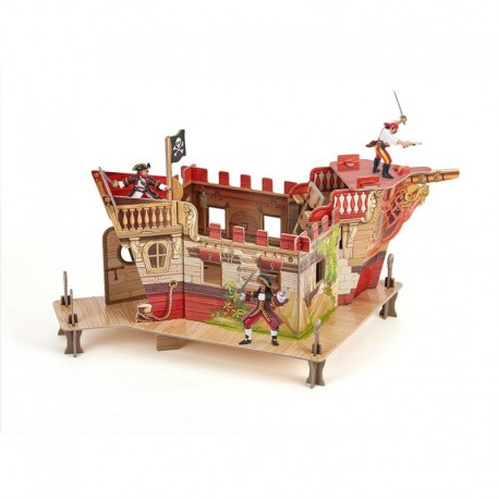 Papo Set fort pirati carton + 3 figurine