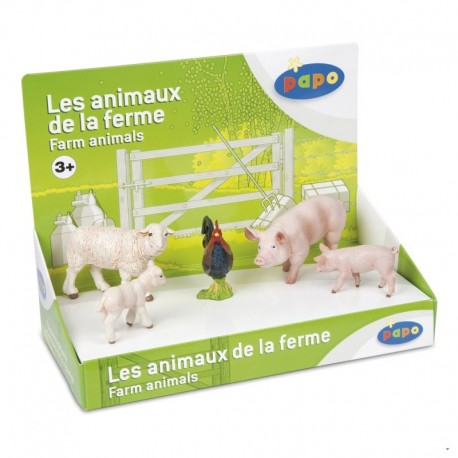 Set figurine Papo animale ferma (oi  porci)