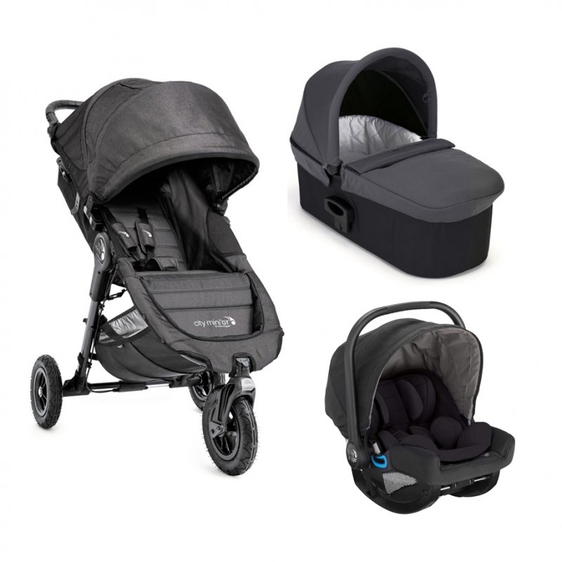 Baby Jogger Carucior City Mini GT Charcoal Denim sistem 3 in 1