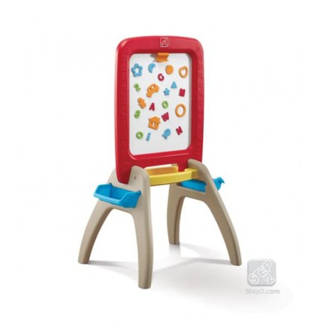 Sevalet de scris vertical - All around easel for two (red)