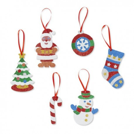 Melissa and Doug Set creatie cu sclipici Ornamente de Craciun