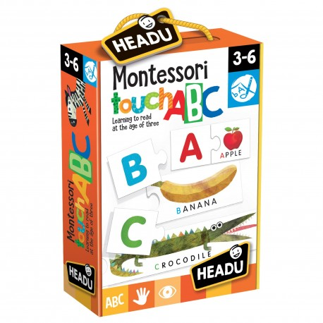 Headu Joc Tactil Montessori Abc