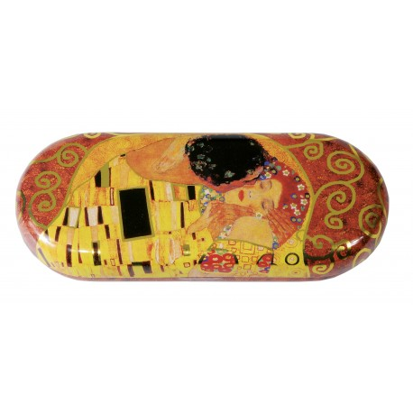 Fridolin Etui ochelari metalic The Kiss Klimt