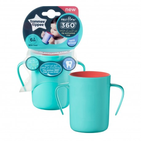 Tommee Tippee Cana EasyFlow 360 Handled, Tommee Tippee, 200 ml, 6luni+, Turquoise