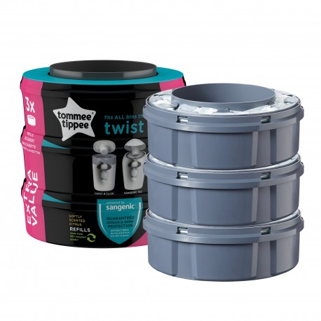 Tommee Tippee Rezerve Twist and Click, Tommee Tippee, 3 buc