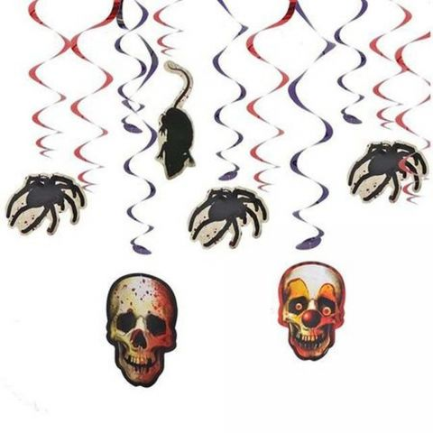 Serpentine decorative pentru Halloween, 61 cm, set 12 buc