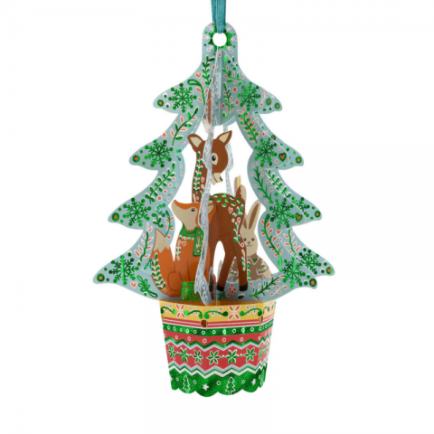 Ornament de brad Craciun Santoro Baubles Brad si animale