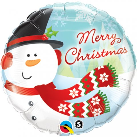 "Balon folie 45 cm ""merry christmas"", qualatex 18867"