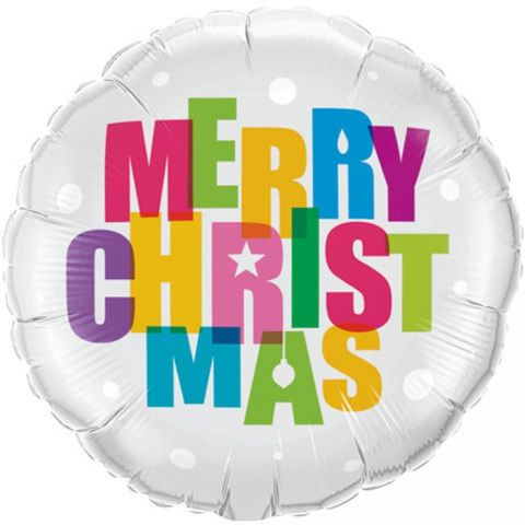 "Balon folie 45 cm "" merry christmas "", qualatex 54145"