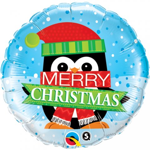 "Balon folie 45 cm "" merry christmas "", qualatex 18973"