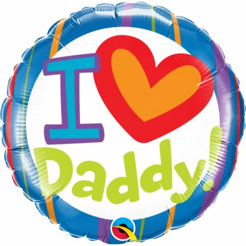 Balon folie 45 cm i (heart) daddy, qualatex 55821