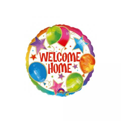 Balon folie 45 cm welcome home celebration, amscan a08433