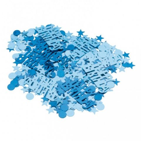 "Amscan Confetti bleu ""happy birthday"" pentru party si evenimente, 500180"