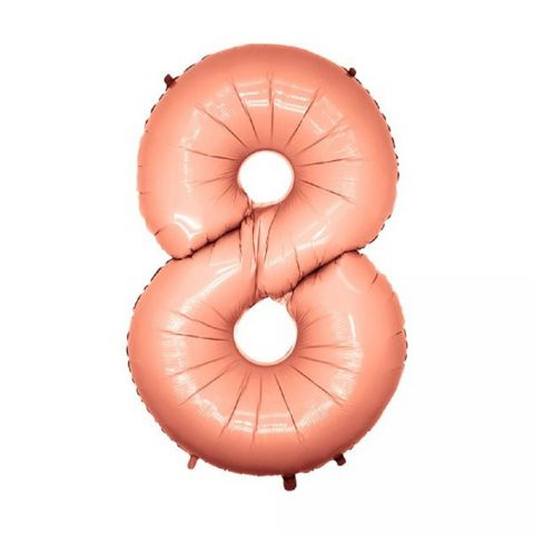 Balon folie mare cifra 8 rose gold - 102 cm, 56168