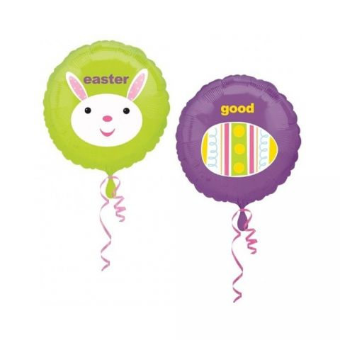 Balon folie 45cm good egg easter bunny, amscan 15287