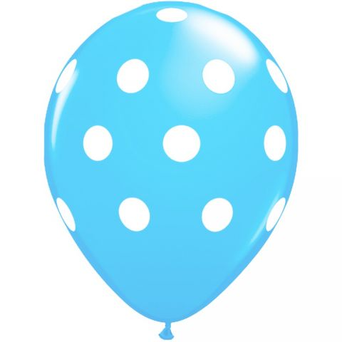 Baloane latex bleu inscriptionate buline - big polka dots, radar gi.dots.bleu