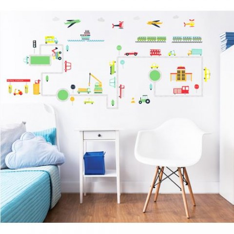 Walltastic Kit Decor Sticker Transport