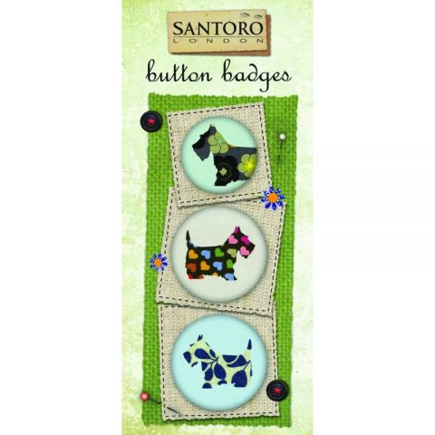 Santoro Eclectic Set 3 insigne Scottie Dogs