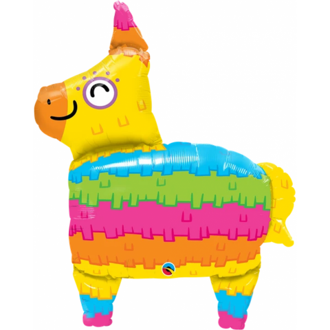 Balon folie figurina rainbow pinata - 88 cm, qualatex 10511
