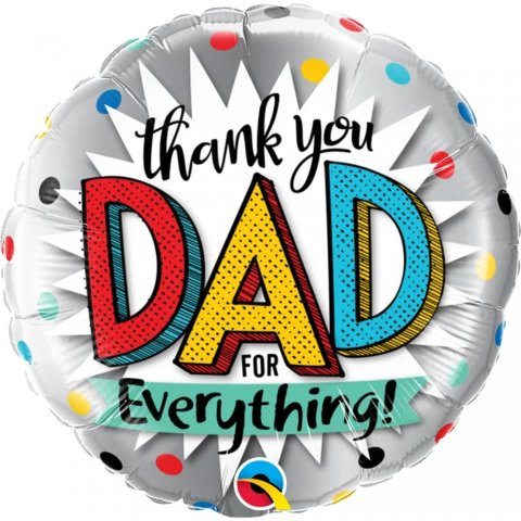 Balon folie 45 cm thank you dad for everything qualatex 55818