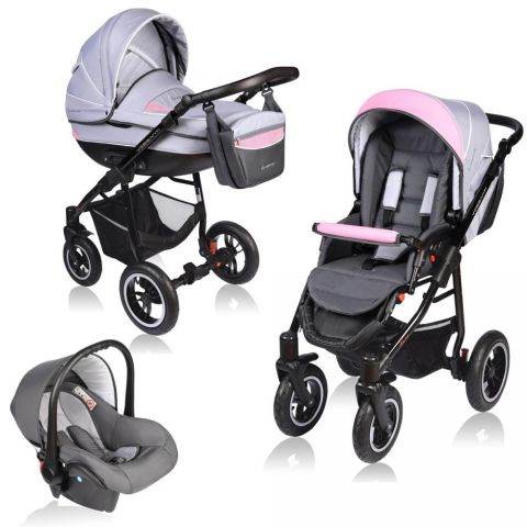 Vessanti Carucior Crooner 3 in 1 - Pink/Gray