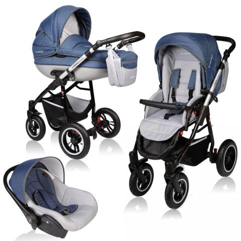 Vessanti Carucior Crooner Prestige 3 in 1- Blue