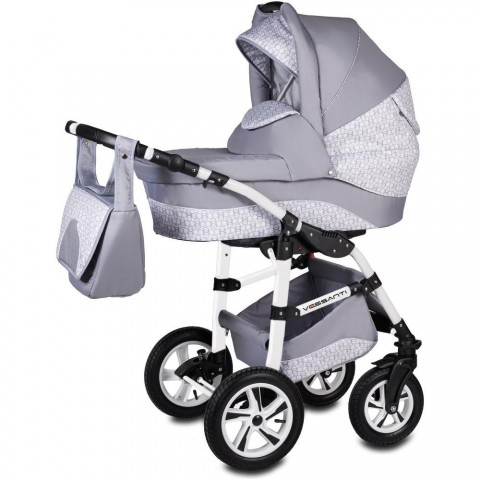Vessanti Carucior Flamingo Easy Drive 3 in 1- Light Gray
